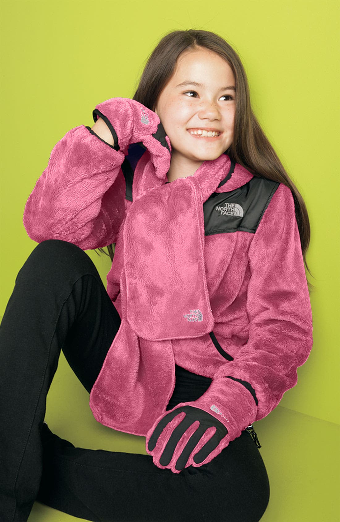 Alternate Image 2  - The North Face 'Denali' Thermal Scarf (Girls)