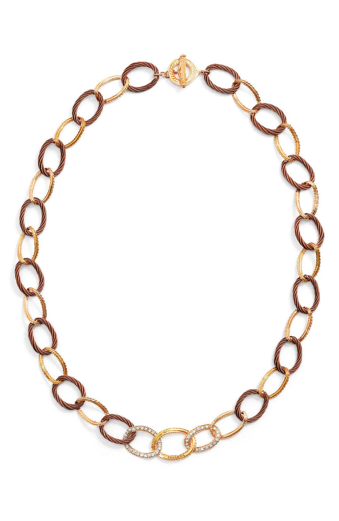 Alternate Image 1 Selected - ALOR® Gold, Diamond & Bronze Necklace