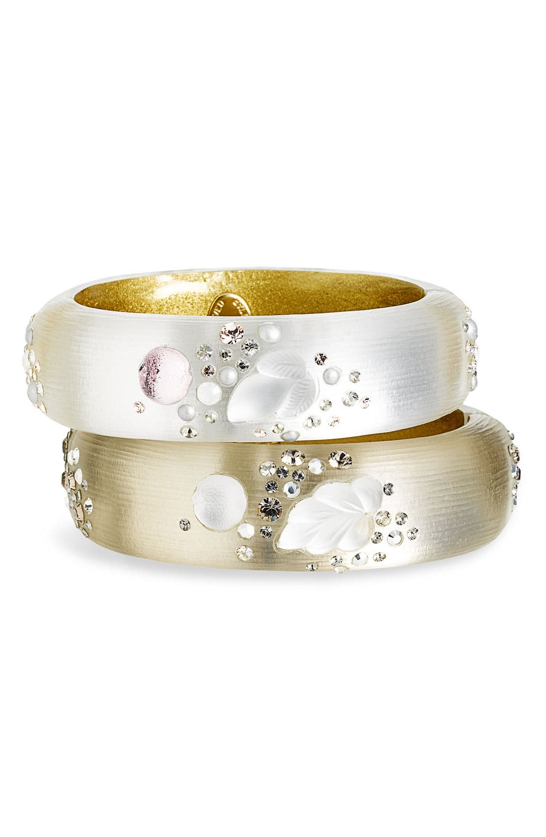 Alternate Image 1 Selected - Alexis Bittar 'Crystal Dust' Large Hinged Bangle (Nordstrom Exclusive)