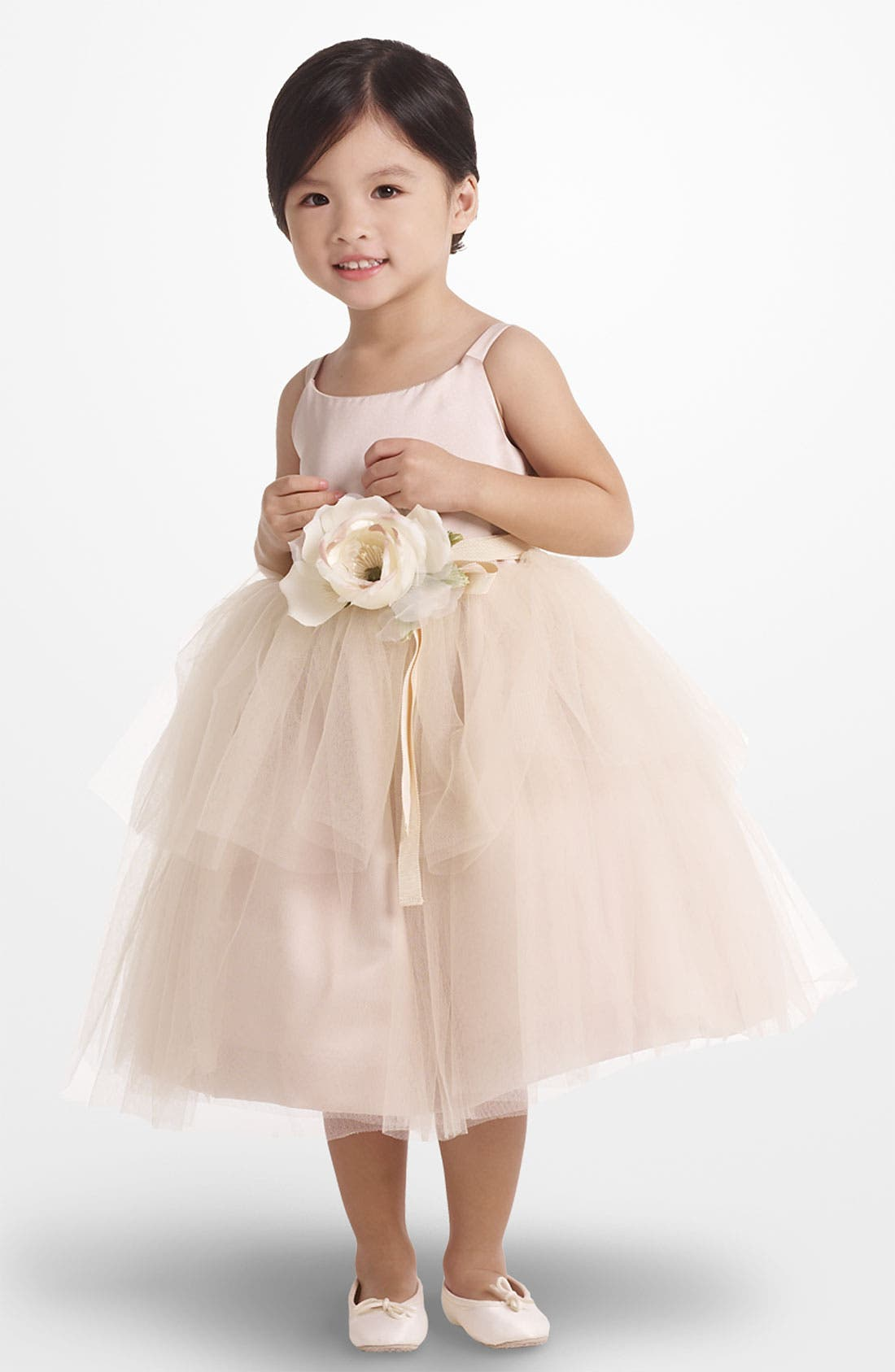 Tulle Ballerina Dress,                         Main,                         color, Champagne