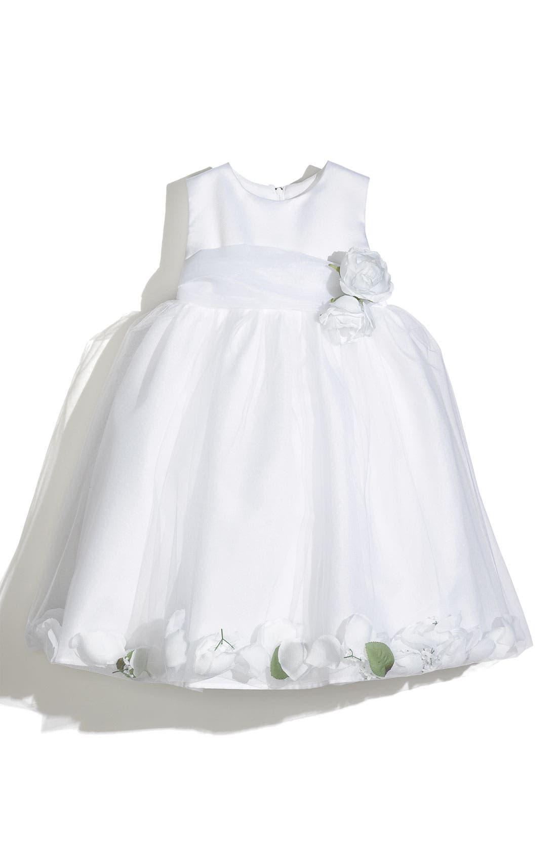 Petal Dress,                         Main,                         color, White/ White