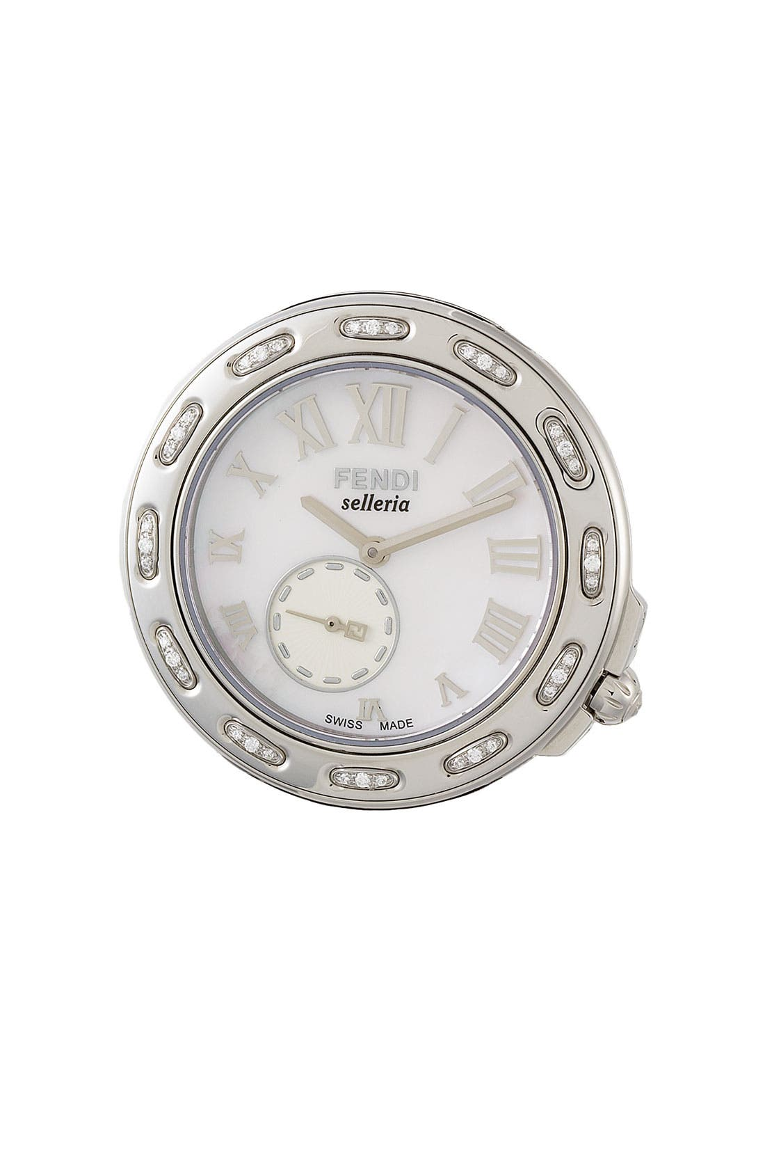 Alternate Image 1 Selected - Fendi 'Selleria' Diamond Watch Case