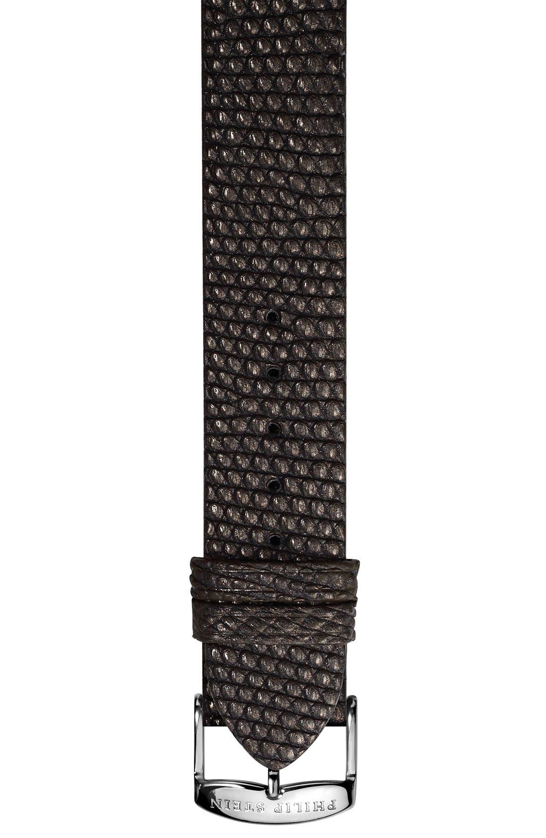 Main Image - Philip Stein® 20mm Metallic Lizard Skin Watch Strap