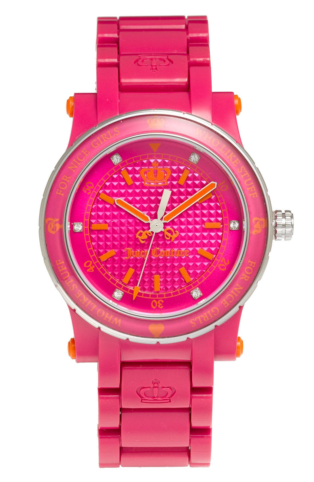 Alternate Image 1 Selected - Juicy Couture 'Her Royal Highness' Plastic Watch