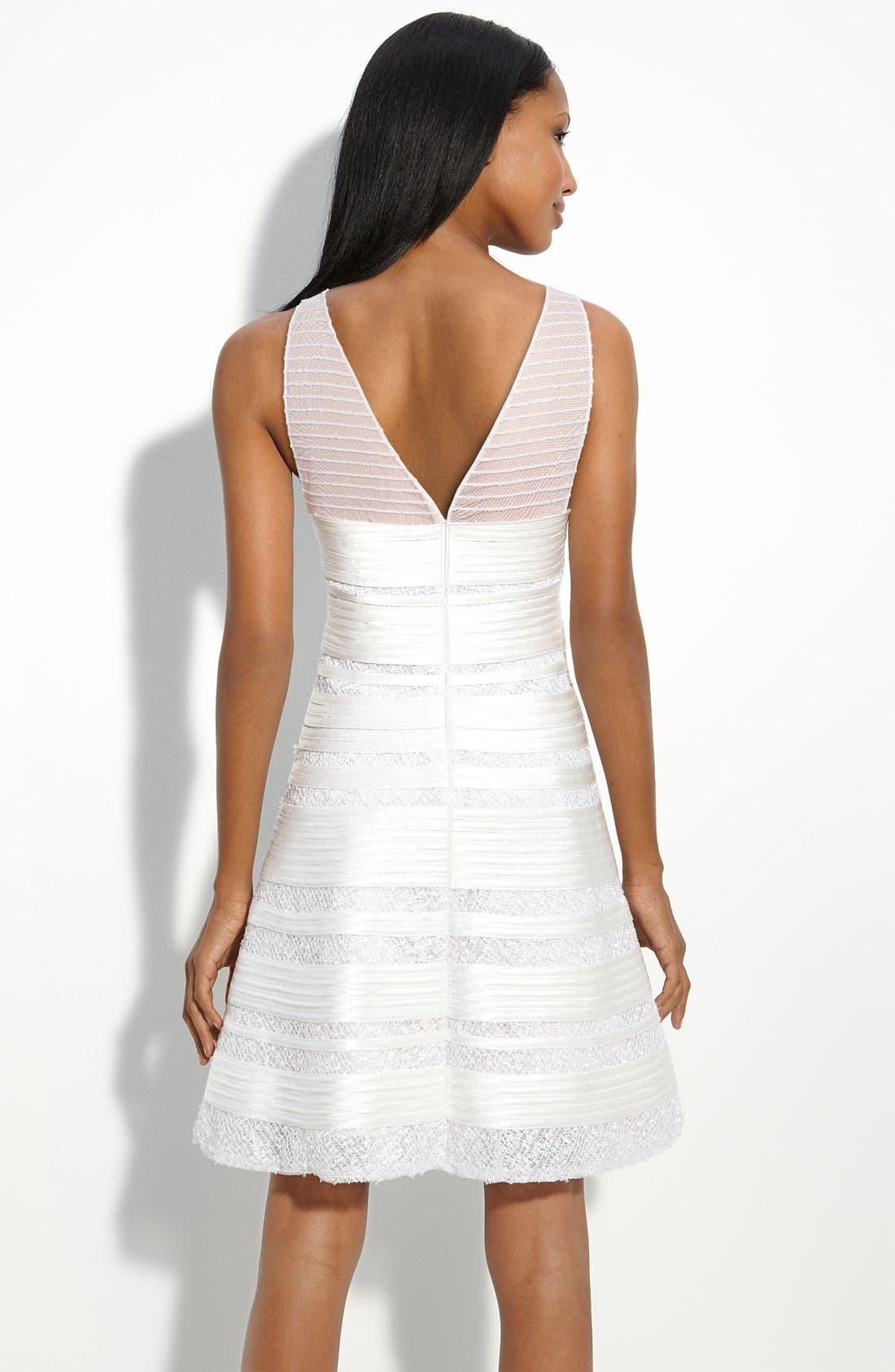 Alternate Image 2  - BCBGMAXAZRIA Illusion Bodice Dress with Sequin Trim