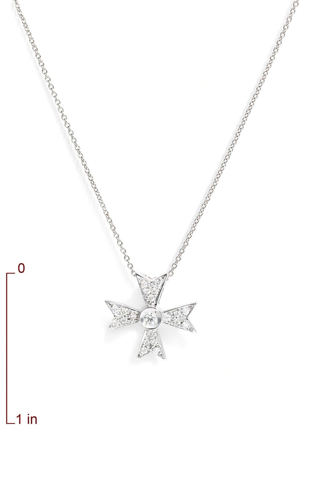Alternate Image 2  - Roberto Coin 'Tiny Treasures' Diamond Cross Necklace