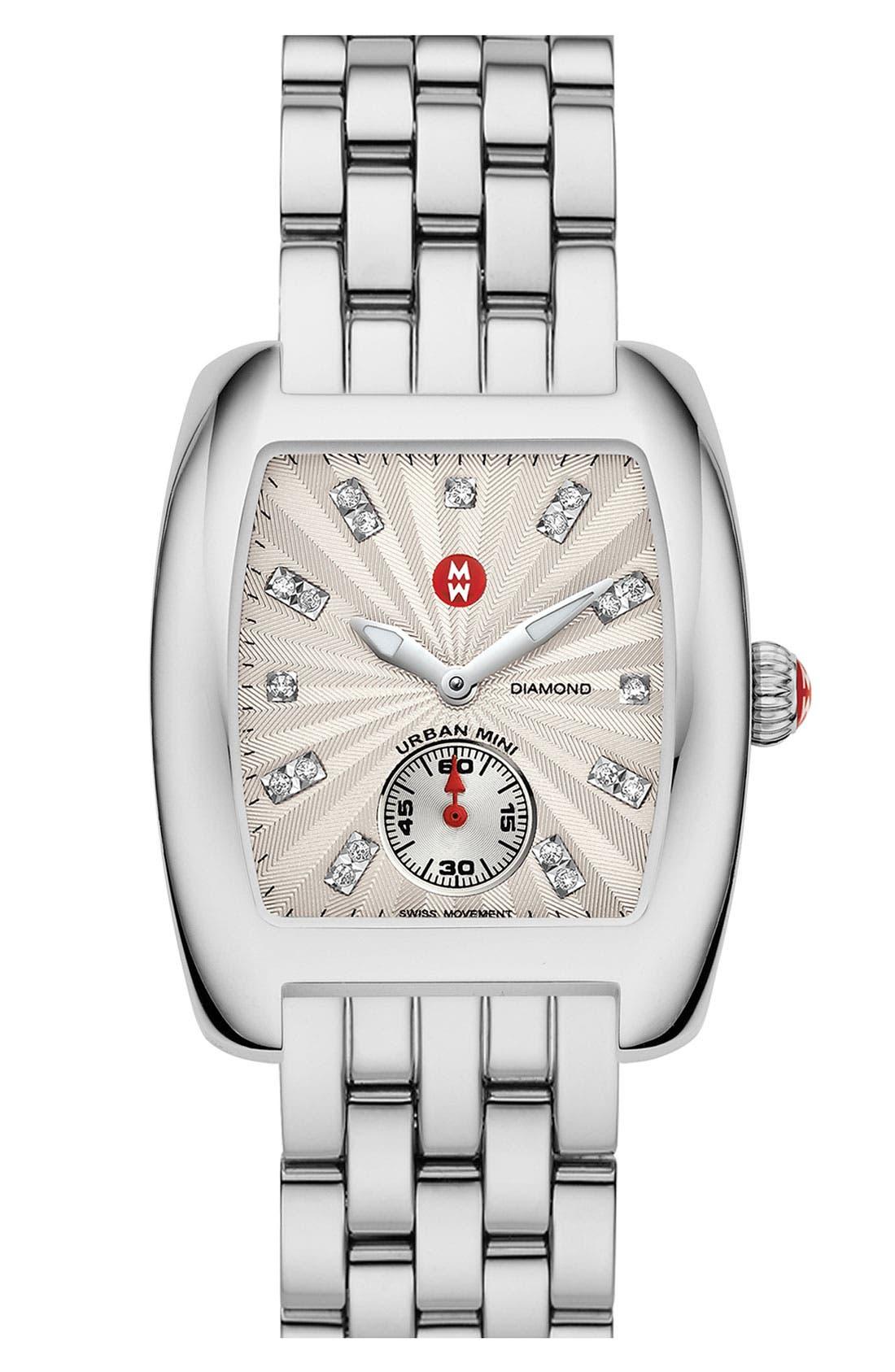 Alternate Image 2  - MICHELE Urban Mini Diamond Dial Watch Case, 29mm x 30mm