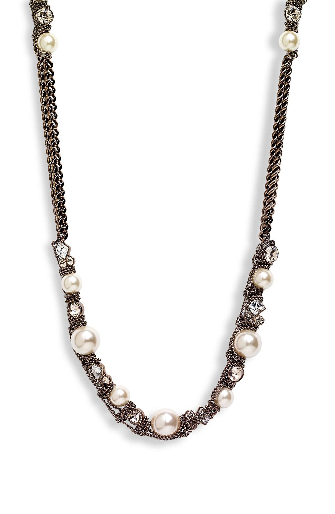Main Image - Givenchy Faux Pearl & Chain Long Necklace