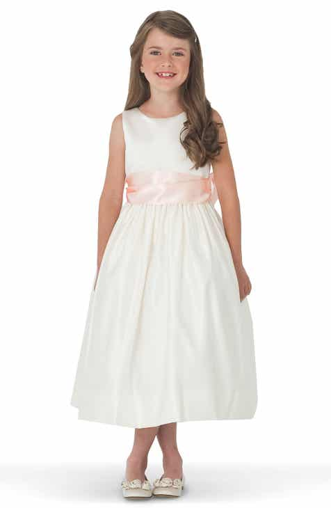 e8f581a3eee23 Us Angels White Tank Dress with Satin Sash (Toddler