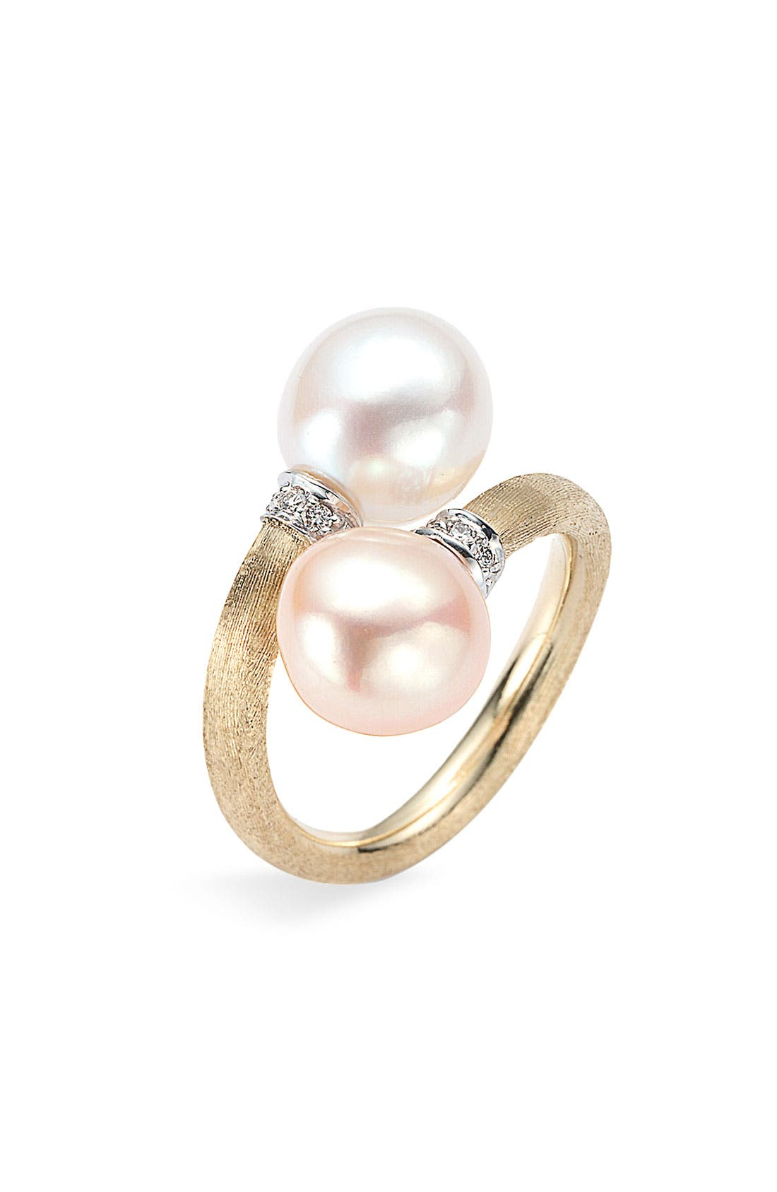 Alternate Image 1 Selected - Marco Bicego Pearl & Diamond Gold Ring