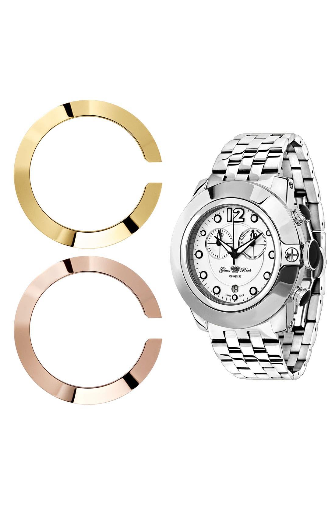 Alternate Image 2  - Glam Rock 'So Be Mood' Bracelet Watch