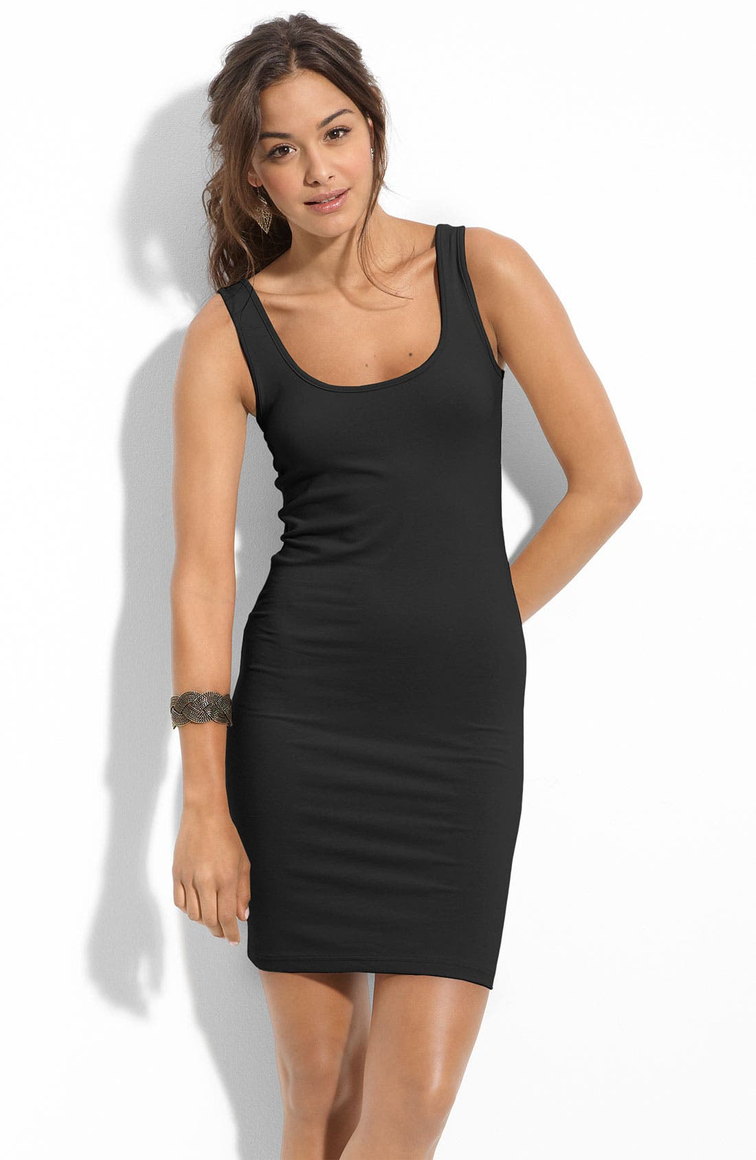 Alternate Image 1 Selected - BP. Double Scoop Tank Dress (Juniors)