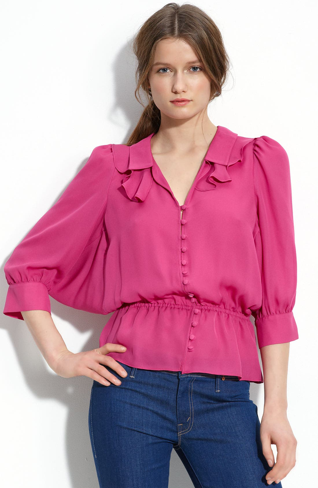 Main Image - Parker Dolman Sleeve Silk Blouse