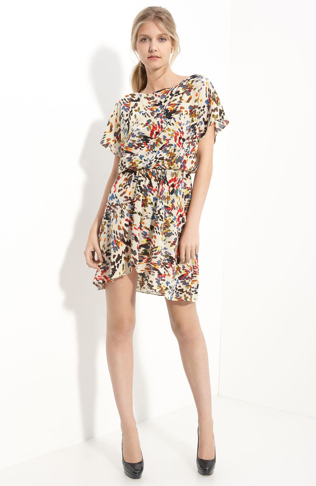 Alternate Image 1 Selected - Alice + Olivia 'Butterfly' Wrap Dress