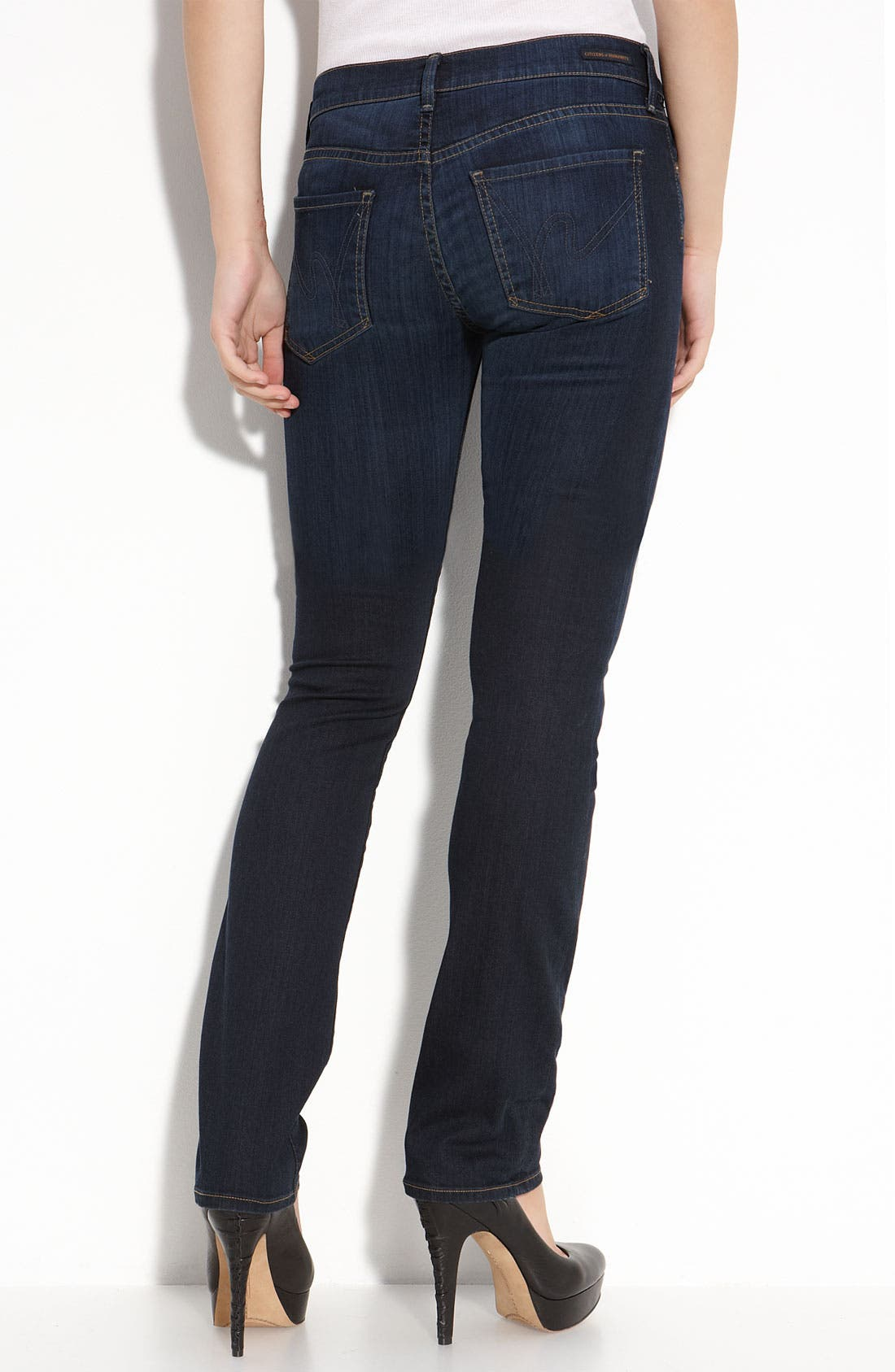 Alternate Image 2  - Citizens of Humanity 'Ava' Straight Leg Stretch Jeans (Faith Dark Wash)