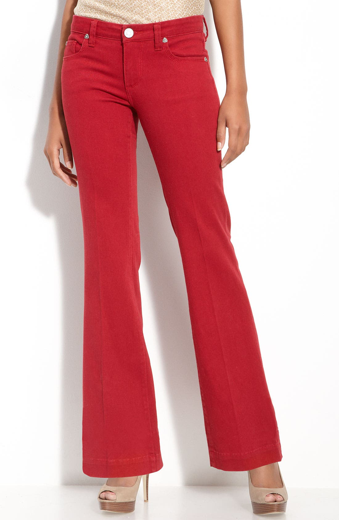 Alternate Image 2  - KUT from the Kloth Colored Denim Flare Leg Jeans