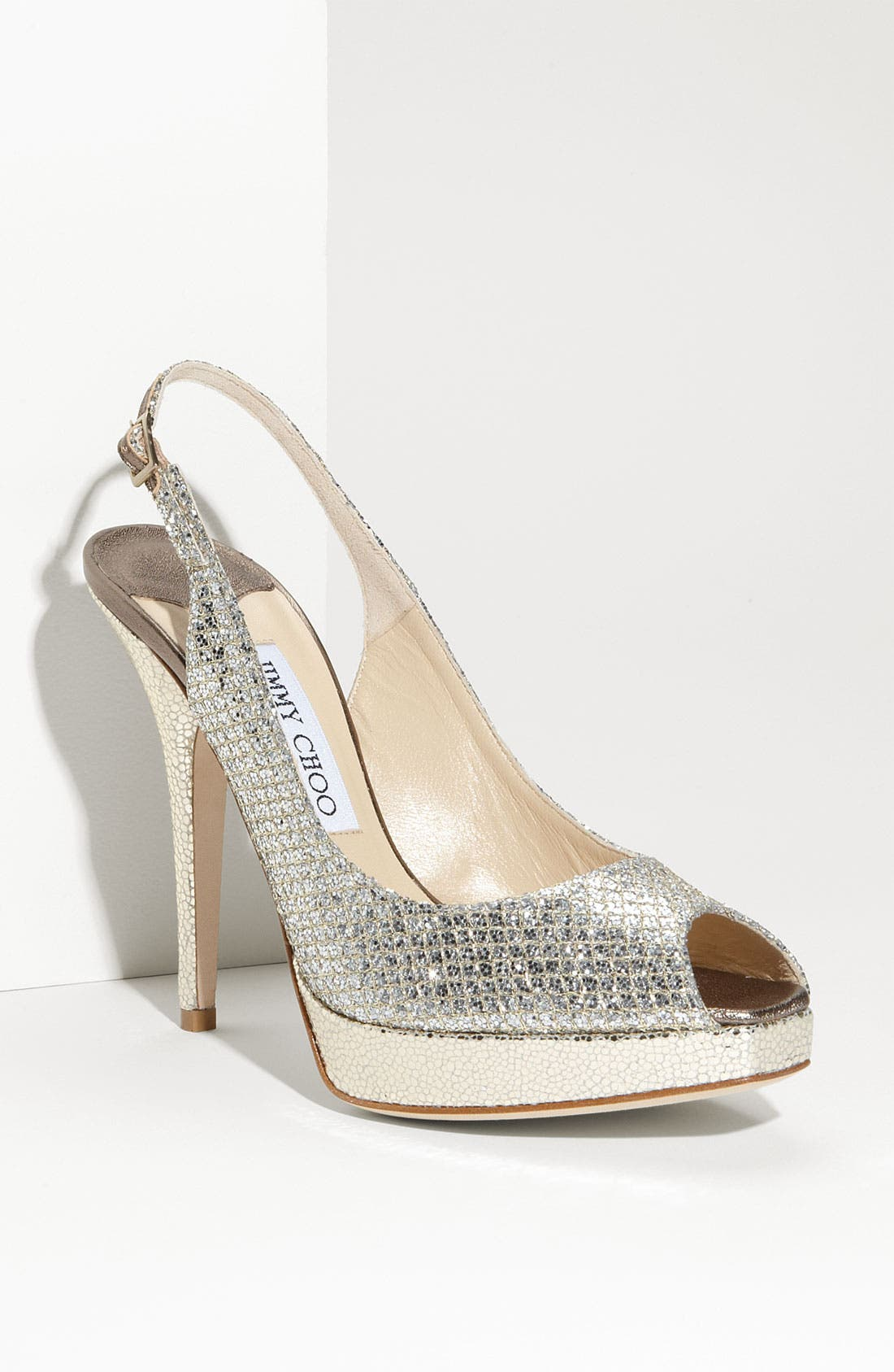 Alternate Image 1 Selected - Jimmy Choo 'Clue' Glitter Slingback Pump (Nordstrom Exclusive Color)