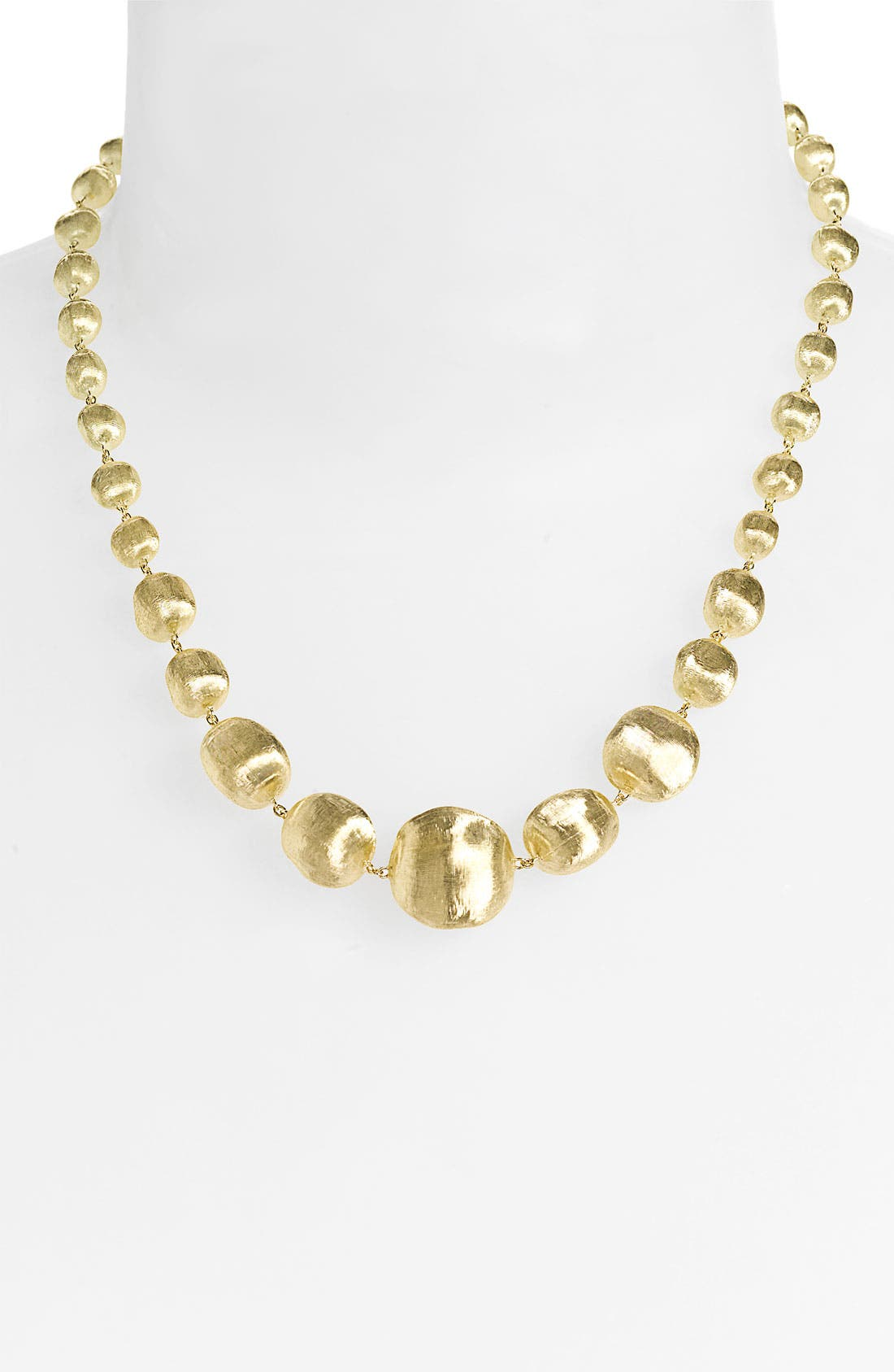 Alternate Image 1 Selected - Marco Bicego 'Africa Gold' Graduated Necklace