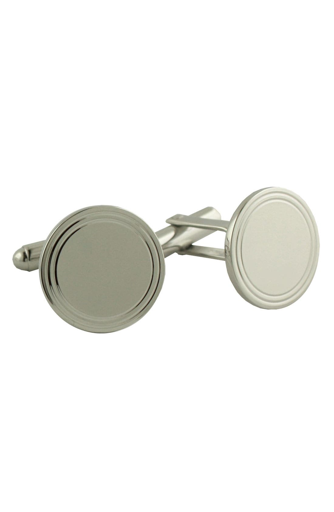 Main Image - David Donahue Engravable Sterling Silver Cuff Links