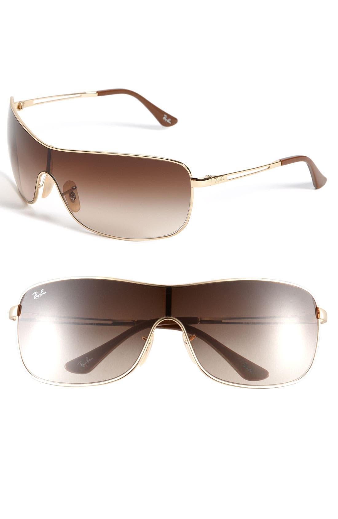 Alternate Image 1 Selected - Ray-Ban 65mm Metal Shield Sunglasses