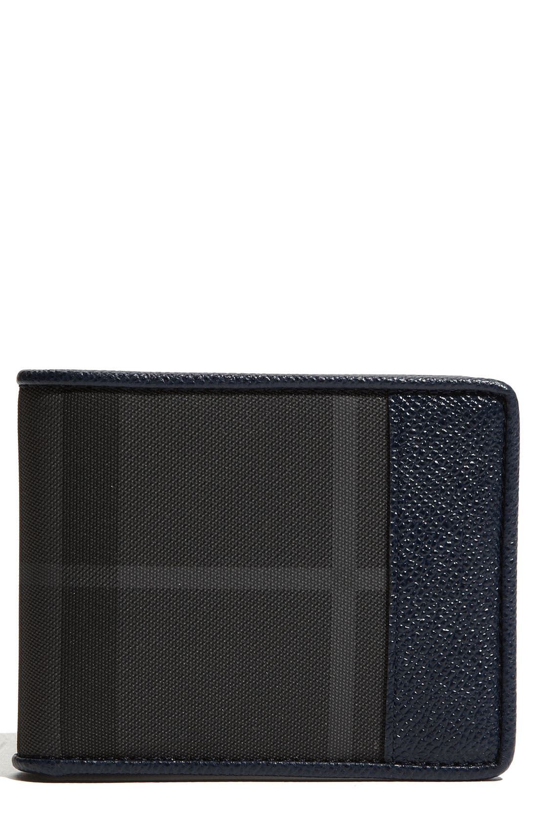 Alternate Image 1 Selected - Burberry Check Print Billfold