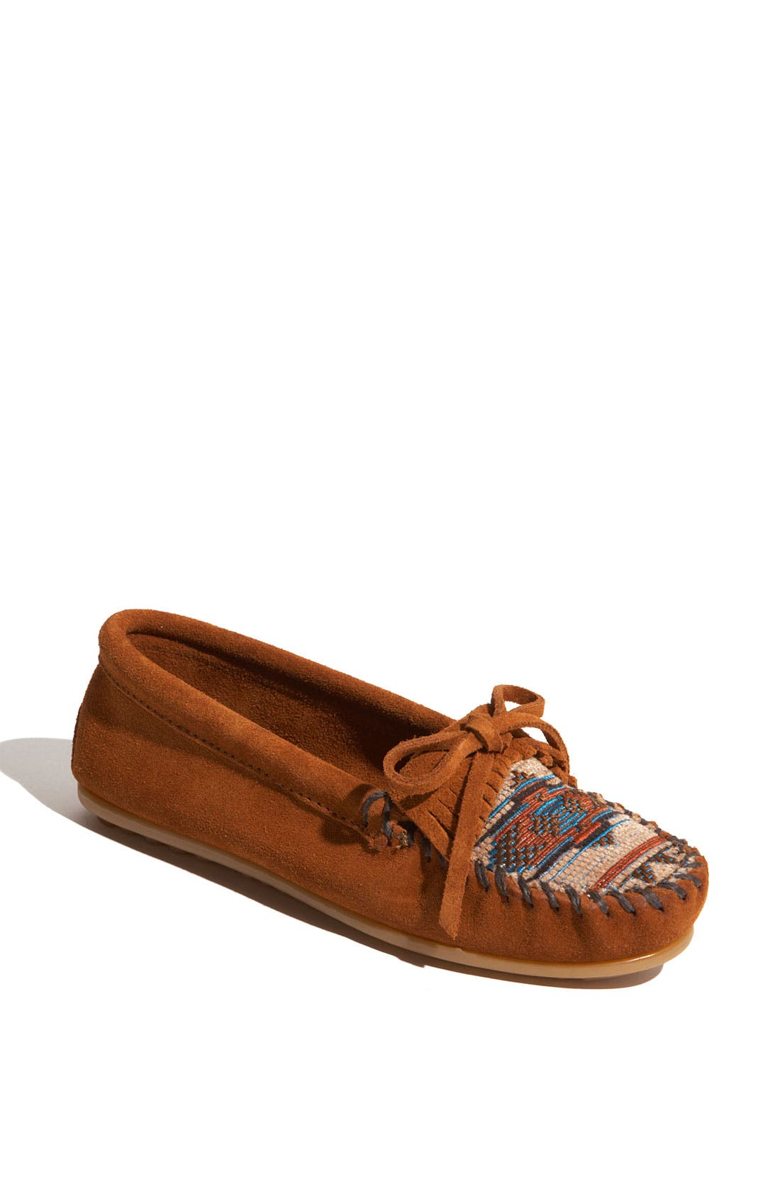 Alternate Image 1 Selected - Minnetonka 'El Paso II' Suede Moccasin