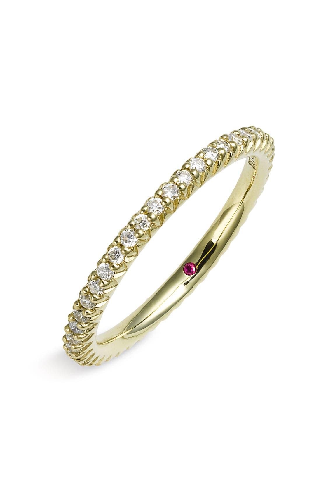 Alternate Image 1 Selected - Roberto Coin 'Micropavé' Diamond Stackable Ring