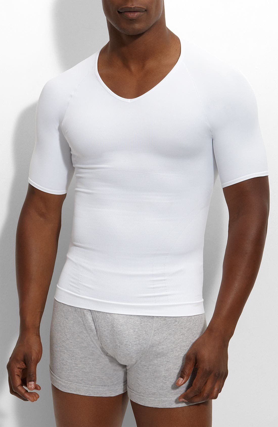 'Zoned Performance' V-Neck T-Shirt,                             Main thumbnail 1, color,                             White