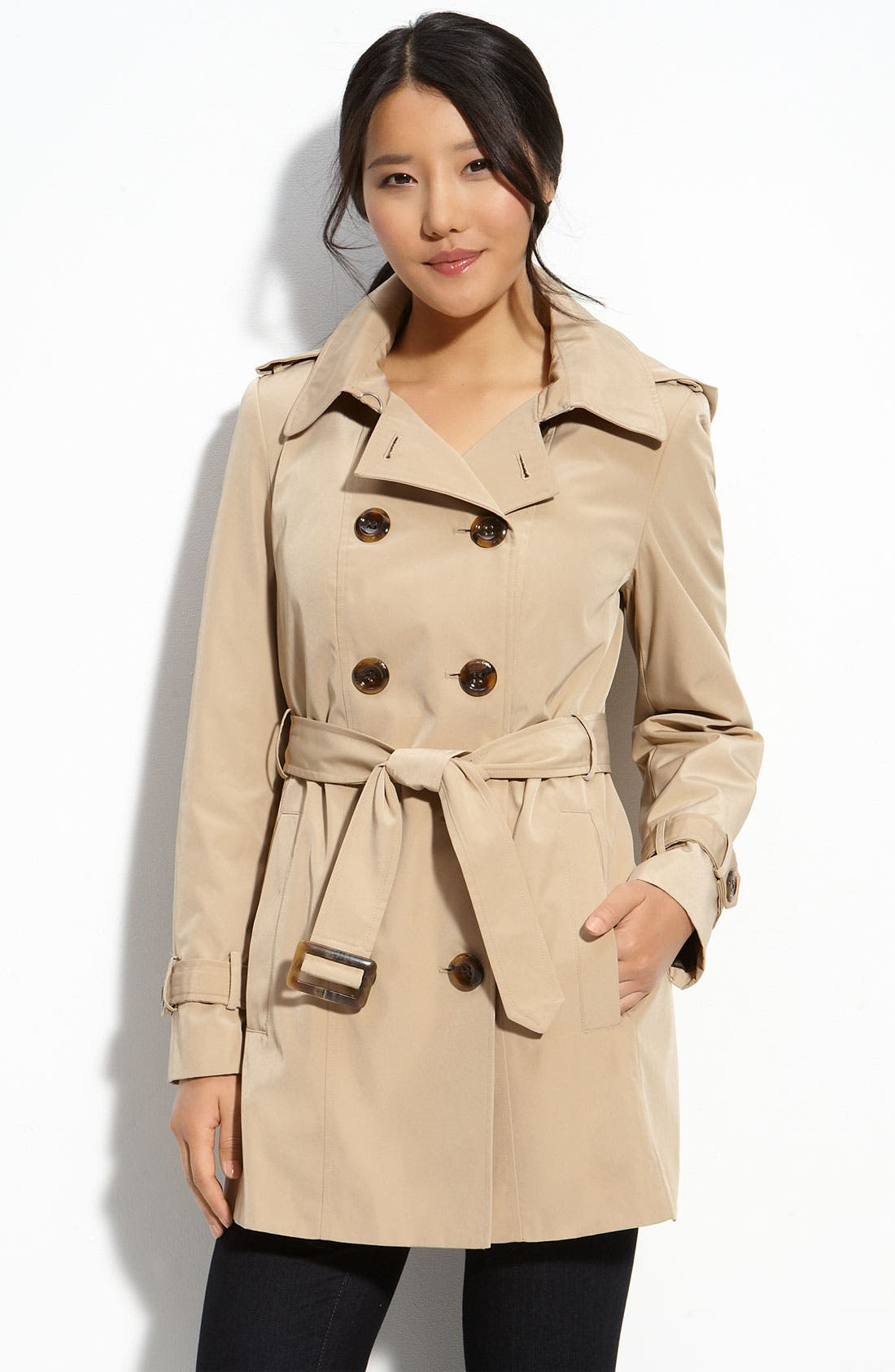 Alternate Image 1 Selected - Calvin Klein Trench with Zip Out Lining
