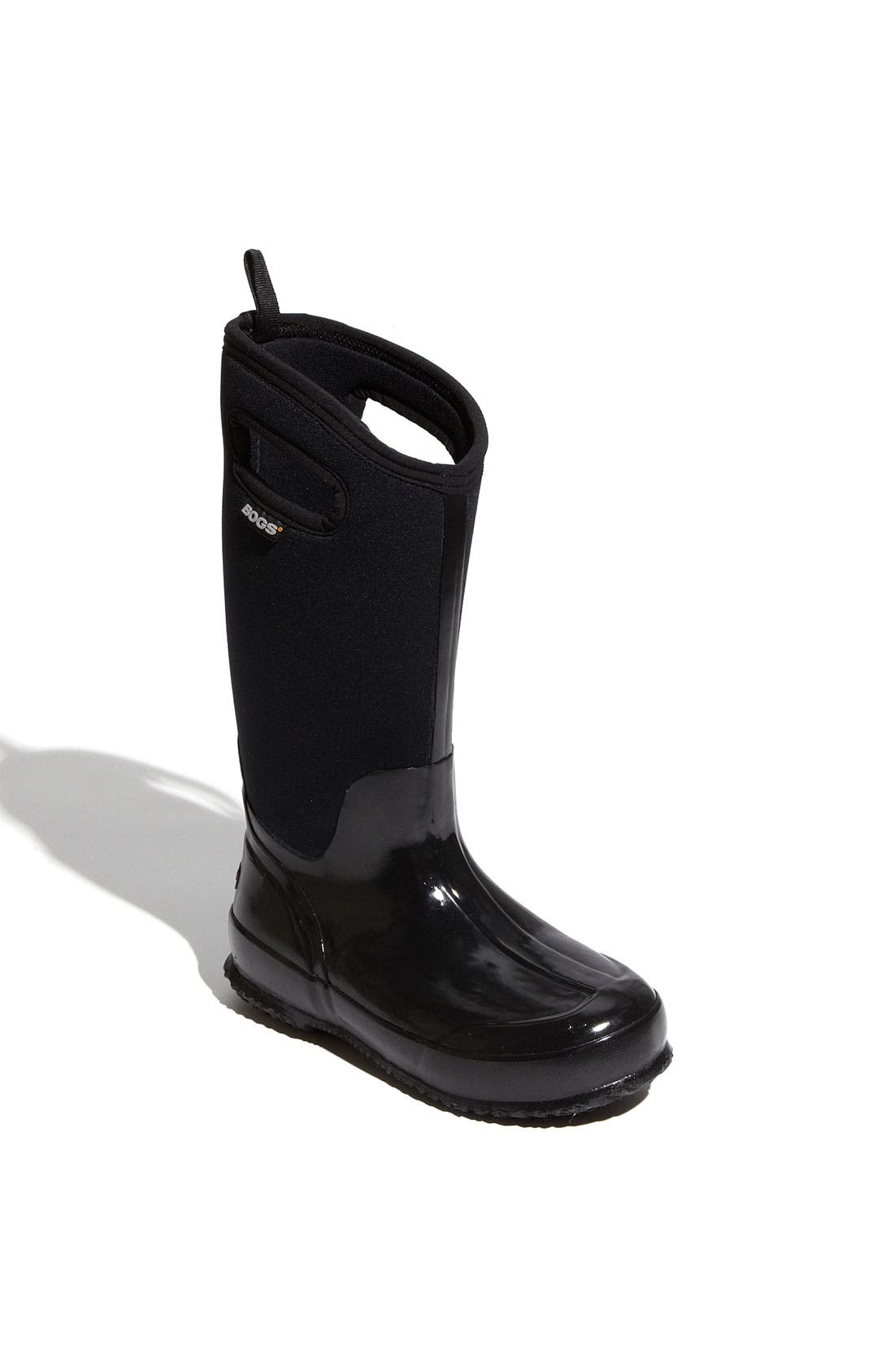 'Classic' Tall Rain Boot,                         Main,                         color, Shiny Black