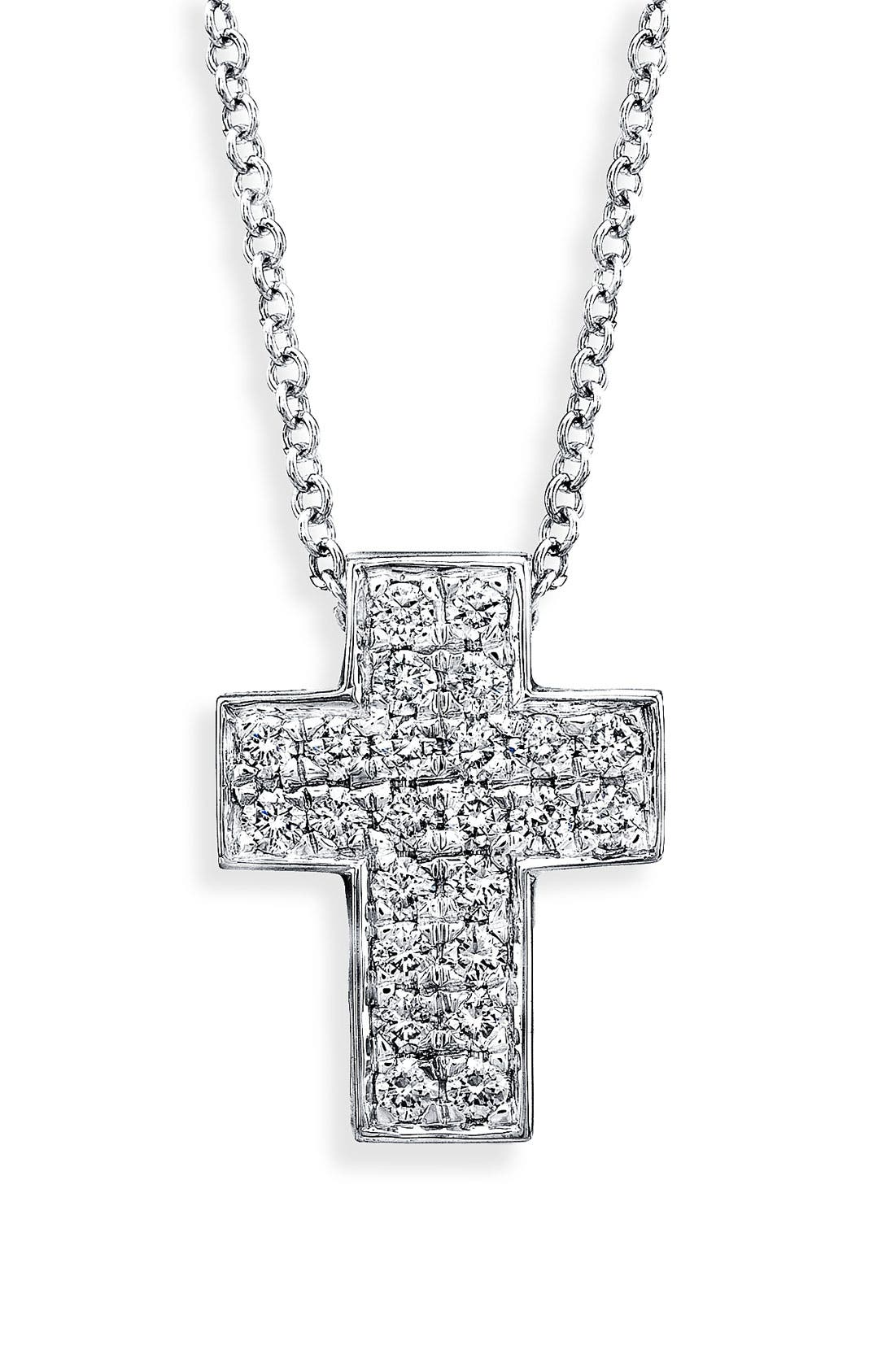 Alternate Image 1 Selected - Bony Levy Diamond Cross Necklace (Nordstrom Exclusive)