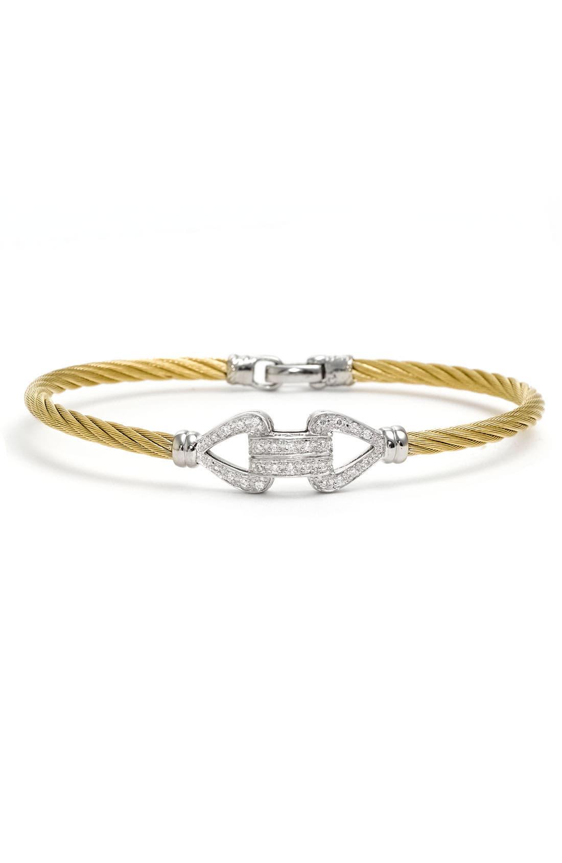Main Image - ALOR® Double Bar Diamond Knot Bangle