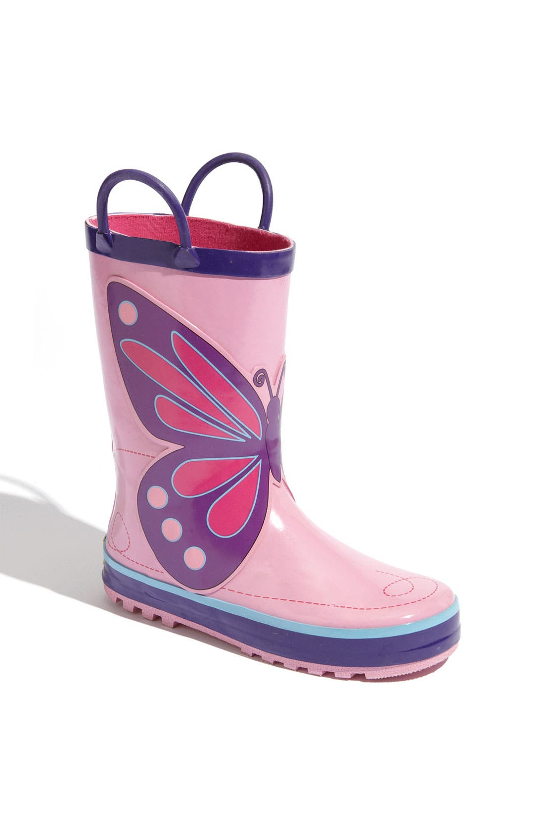 'Wings' Rain Boot,                             Main thumbnail 1, color,                             Pink