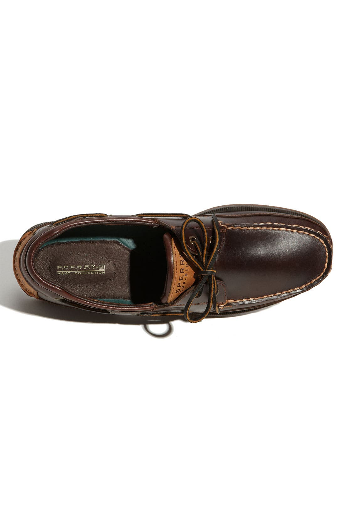 Top-Sider<sup>®</sup> 'Mako Two-Eye Canoe Moc' Boat Shoe,                             Alternate thumbnail 2, color,                             Dark Brown