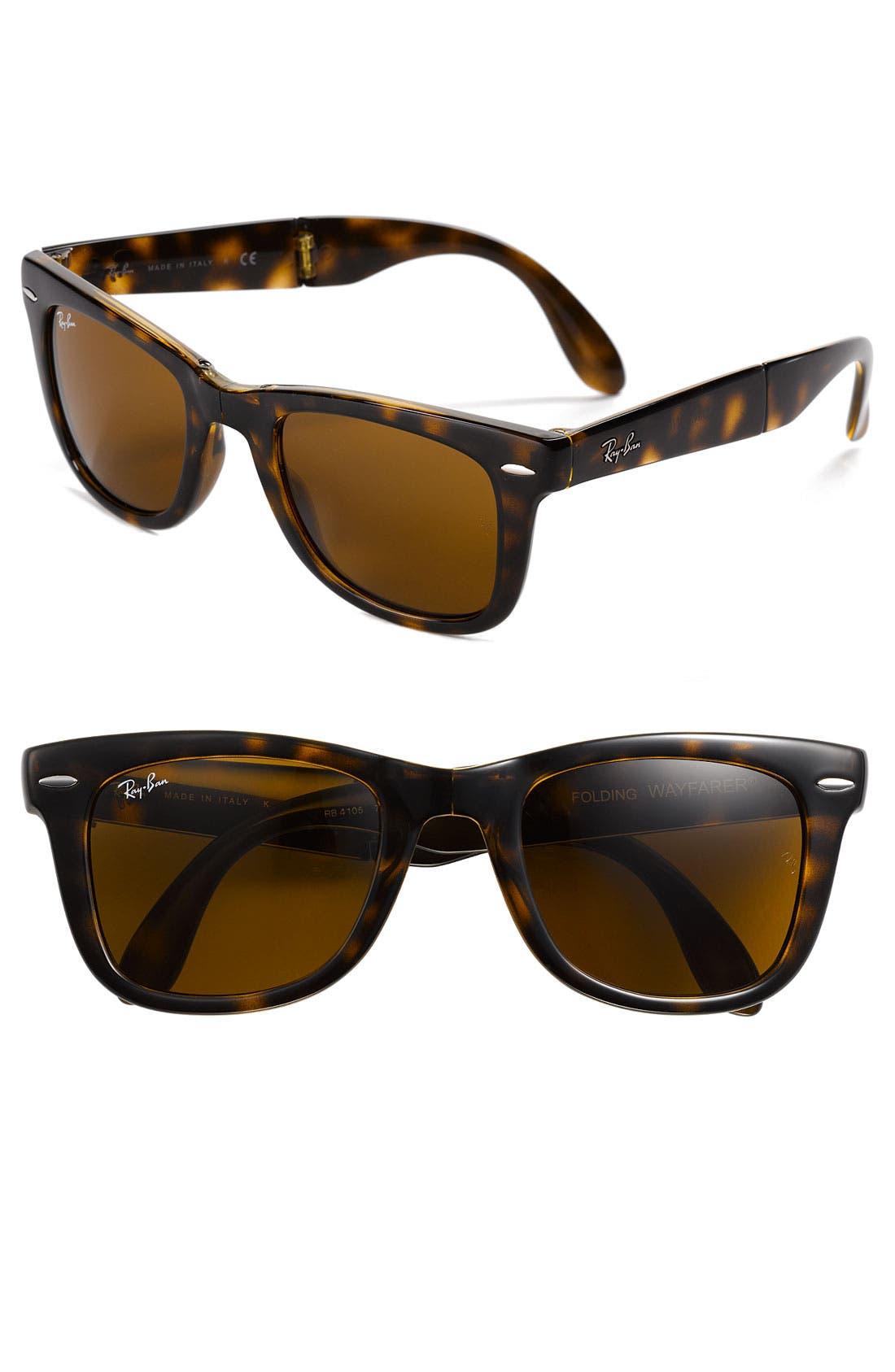 Main Image - Ray-Ban 'Folding Wayfarer' 50mm Sunglasses