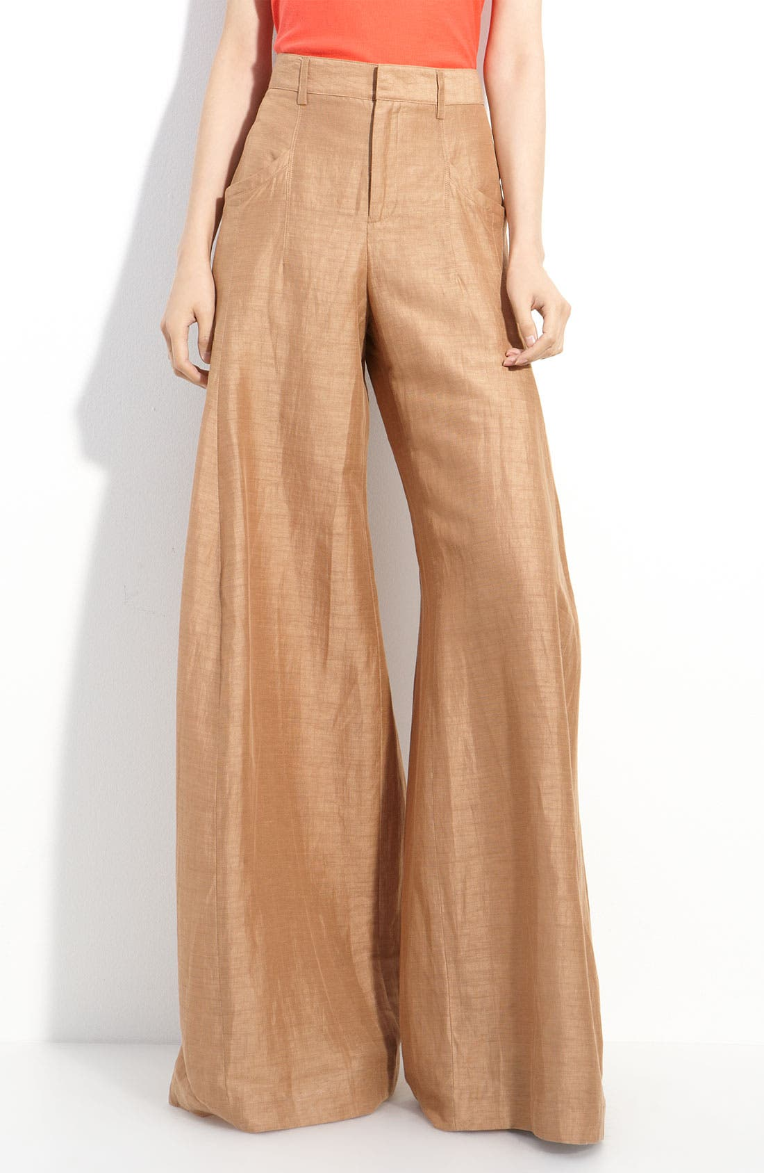 Main Image - Theyskens' Theory 'Pluto' Wide Leg Linen Blend Pants