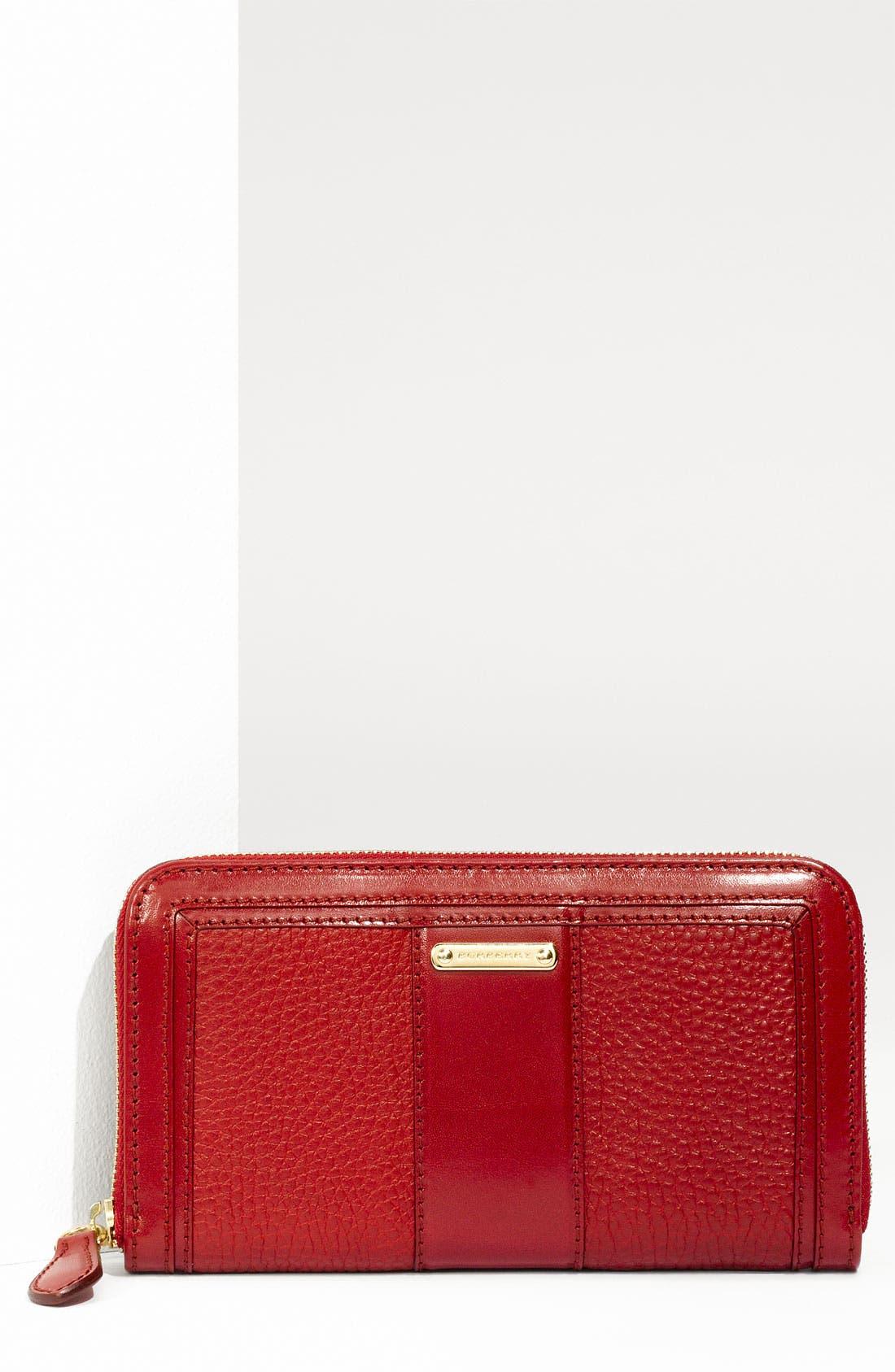 Alternate Image 1 Selected - Burberry Zip Around Wallet