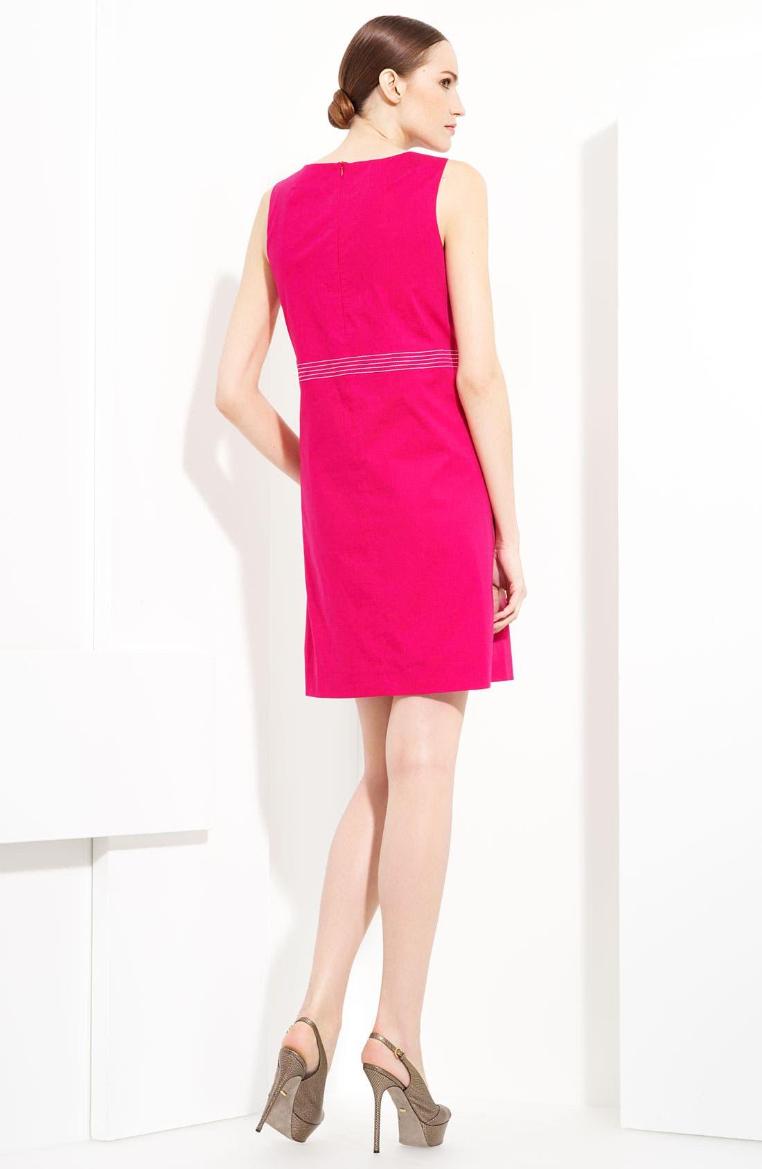 Alternate Image 2  - Piazza Sempione Watercolor Print Stretch Cotton Dress