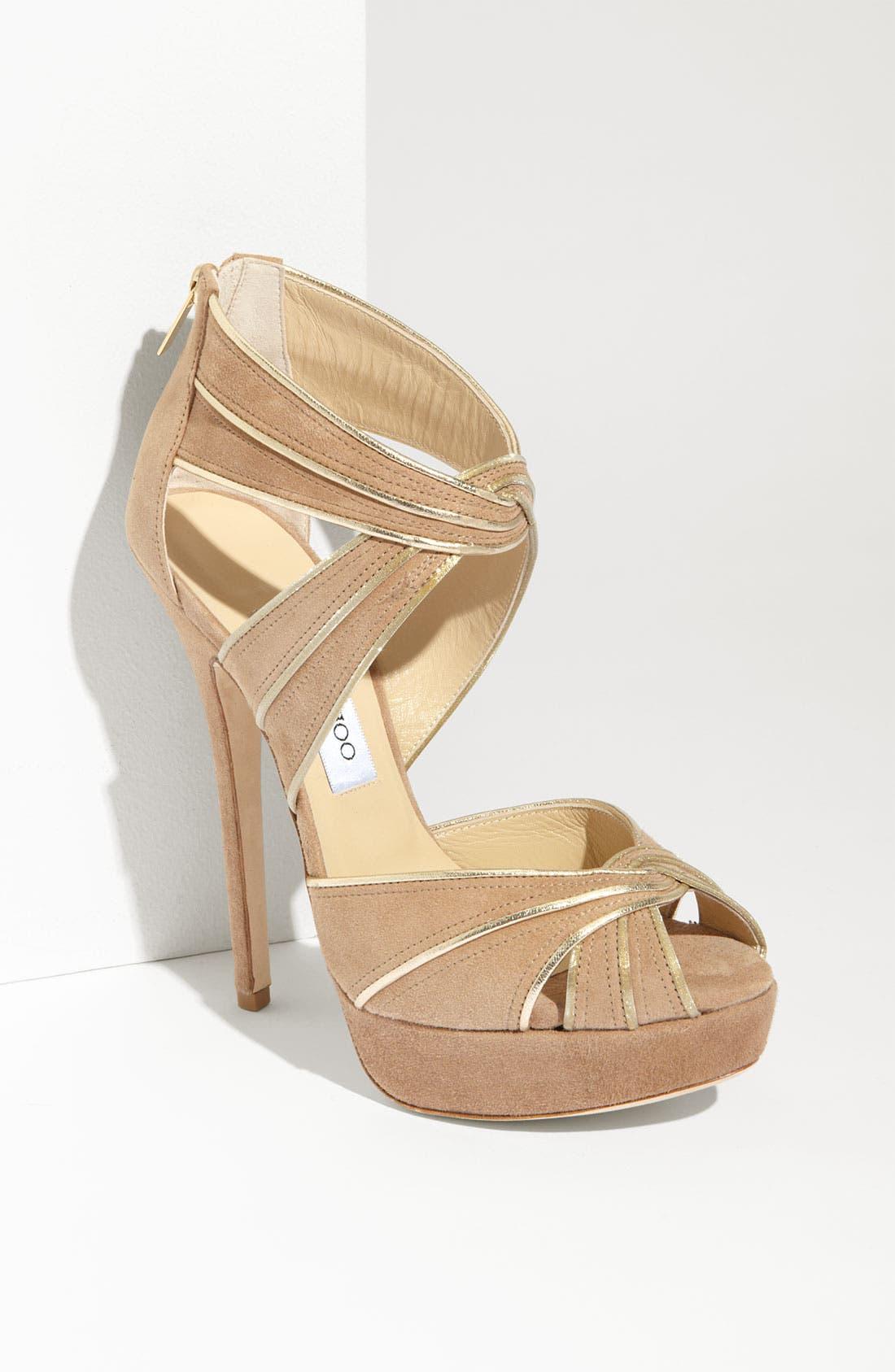 Alternate Image 1 Selected - Jimmy Choo 'Koko' Piped Platform Sandal
