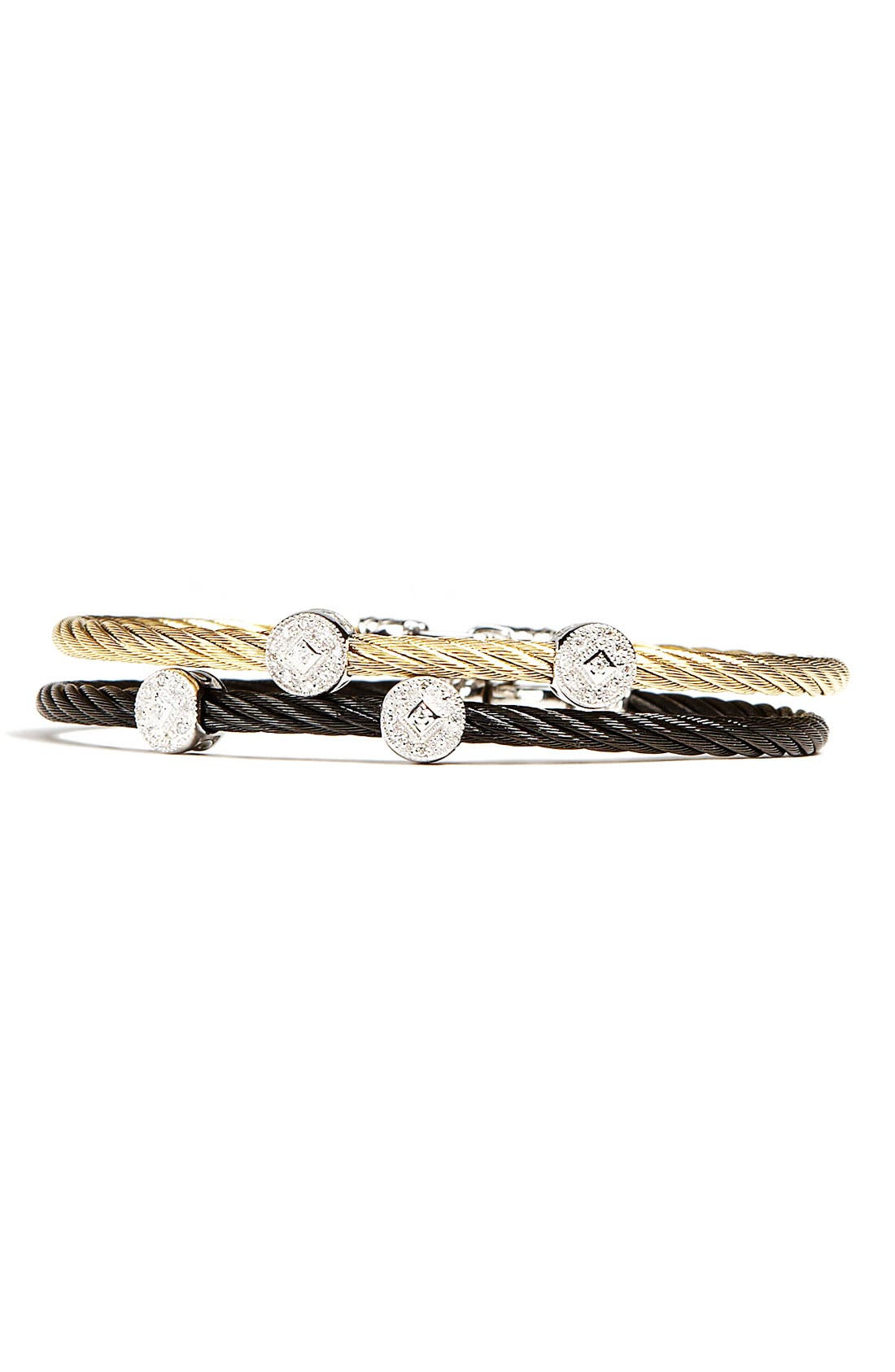 Alternate Image 1 Selected - ALOR® Round Diamond Station Stackable Bracelet