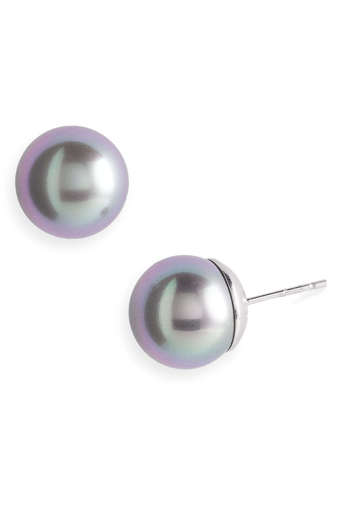 Alternate Image 1 Selected - Majorica Round Simulated Pearl Stud Earrings
