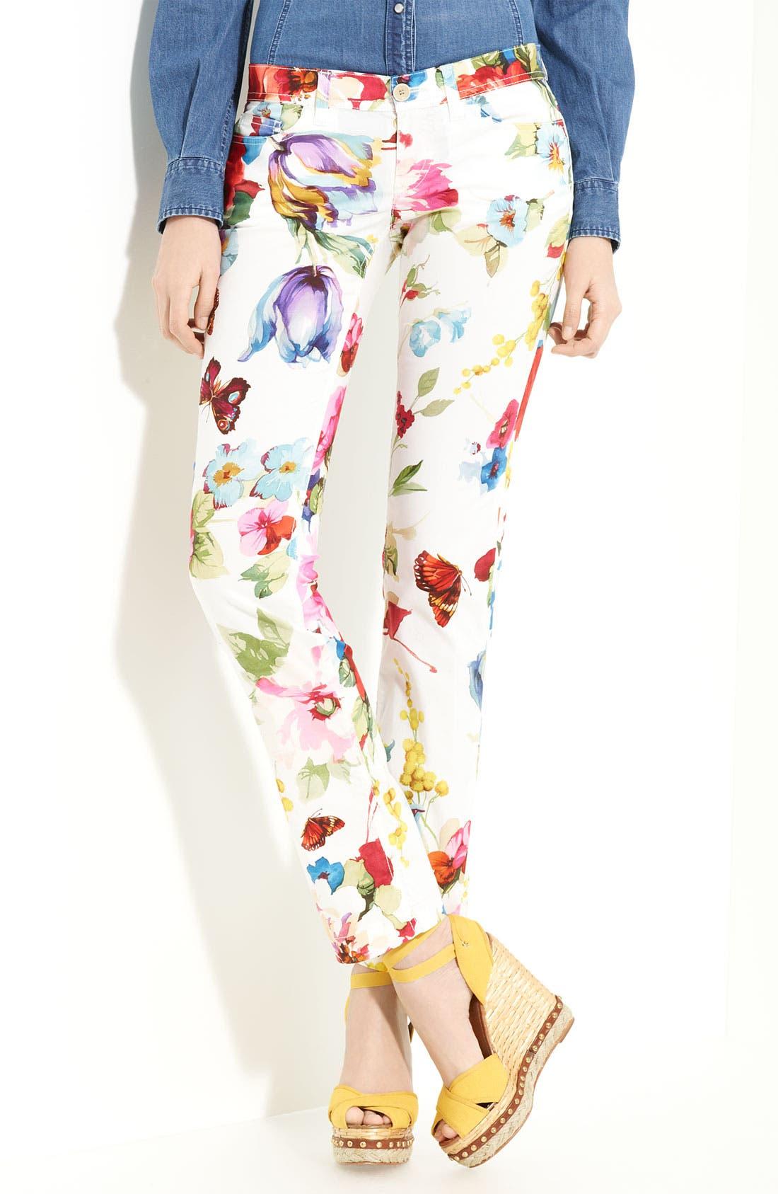 Alternate Image 1 Selected - Dolce&Gabbana Print Stretch Cotton Pants