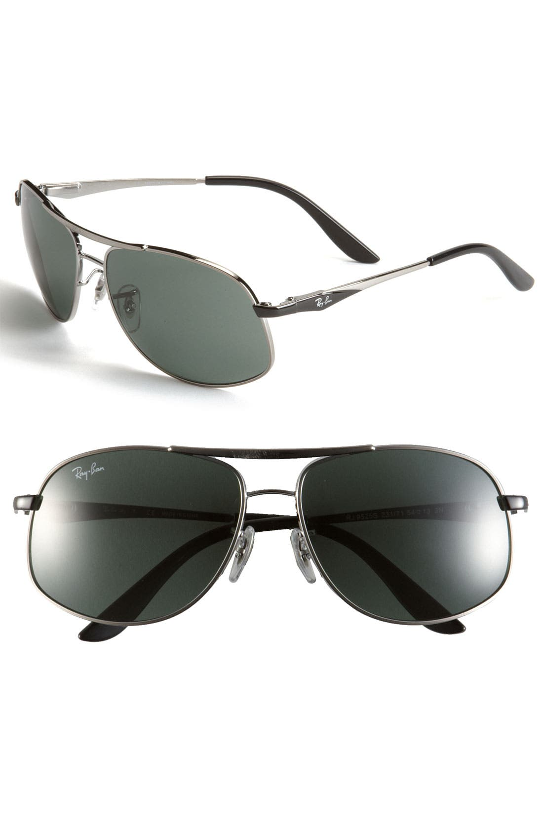 Alternate Image 1 Selected - Ray-Ban Aviator Sunglasses (Big Boys)
