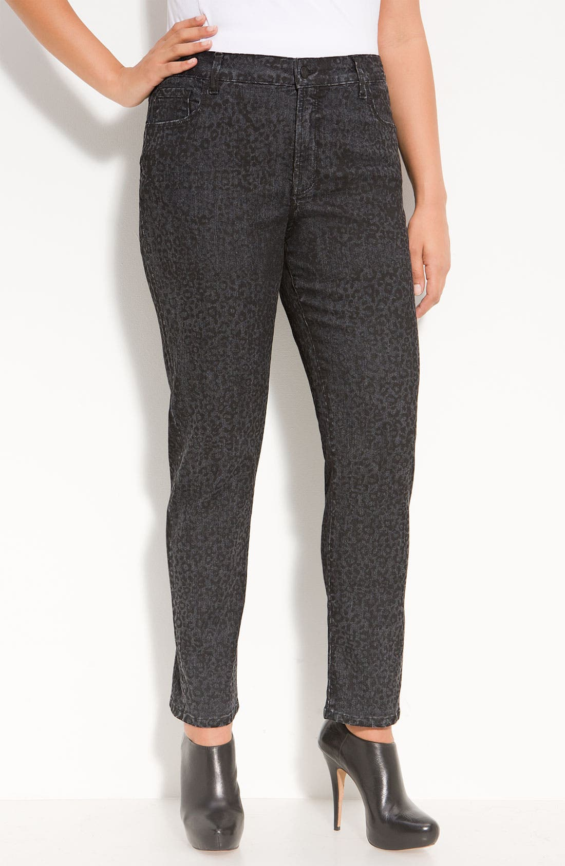 Alternate Image 1 Selected - Not Your Daughter's Jeans® 'Sheri' Patterned Skinny Stretch Jeans (Plus)