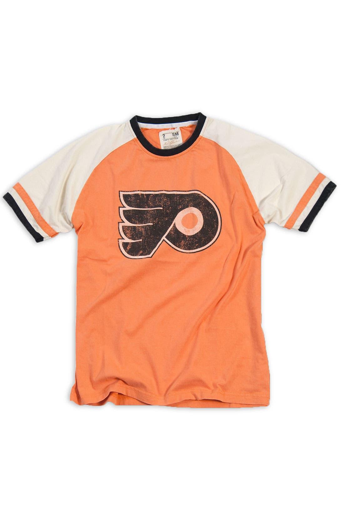 Main Image - Red Jacket 'Philadelphia Flyers' Trim Fit Crewneck Ringer T-Shirt (Men)