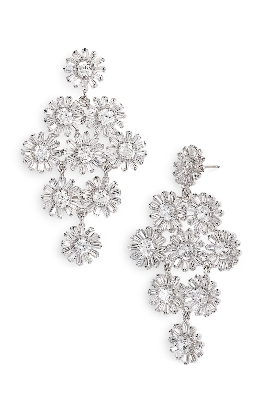 Main Image - kate spade new york 'crystal gardens' chandelier earrings