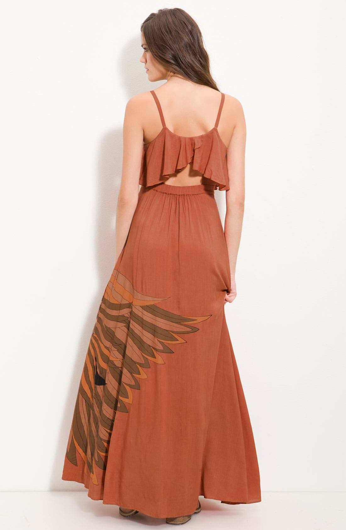 Alternate Image 2  - Free People 'Flock of Birds' Statement Print Maxi Dress