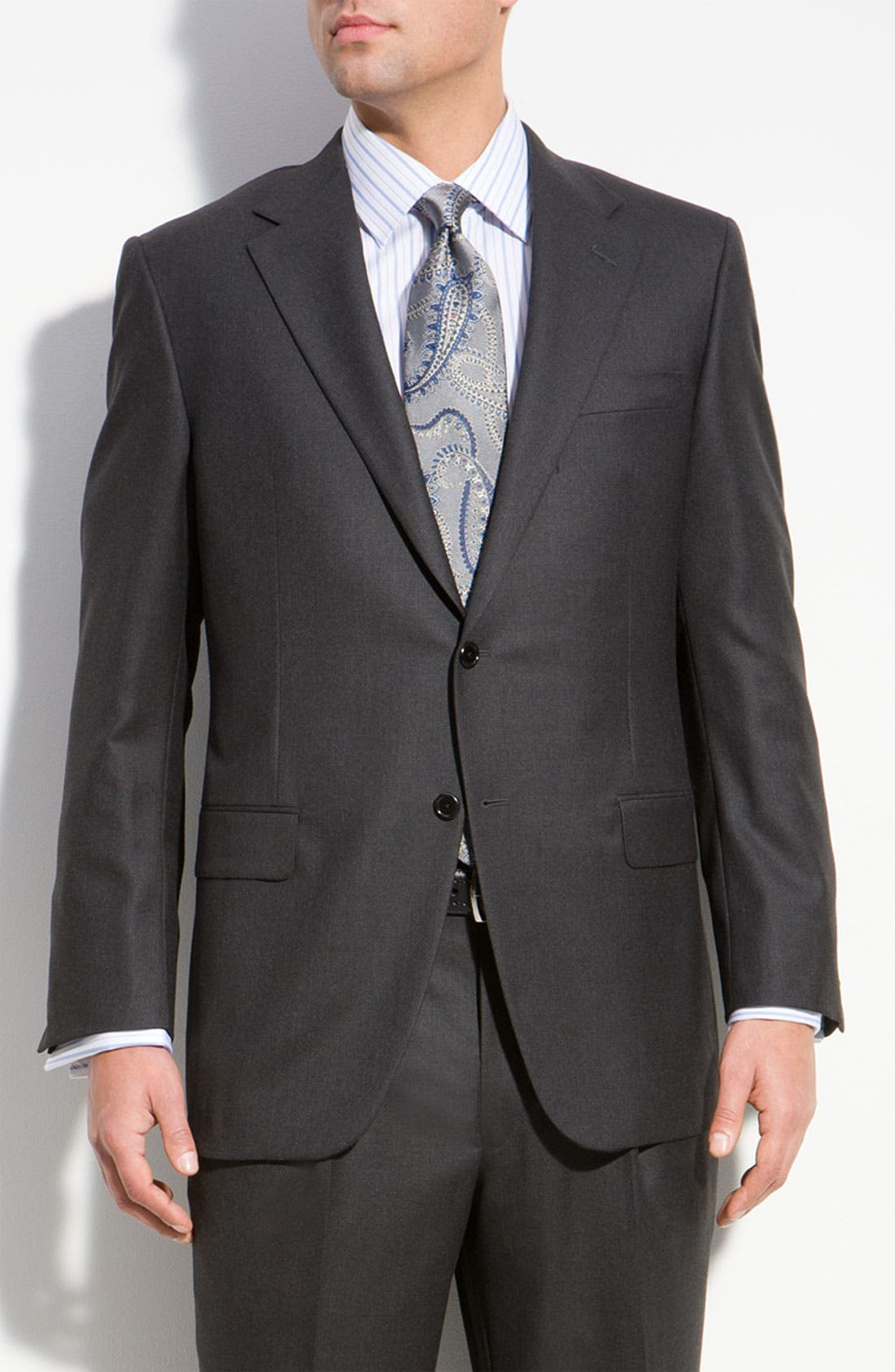 Main Image - Hickey Freeman A Fit Wool Suit