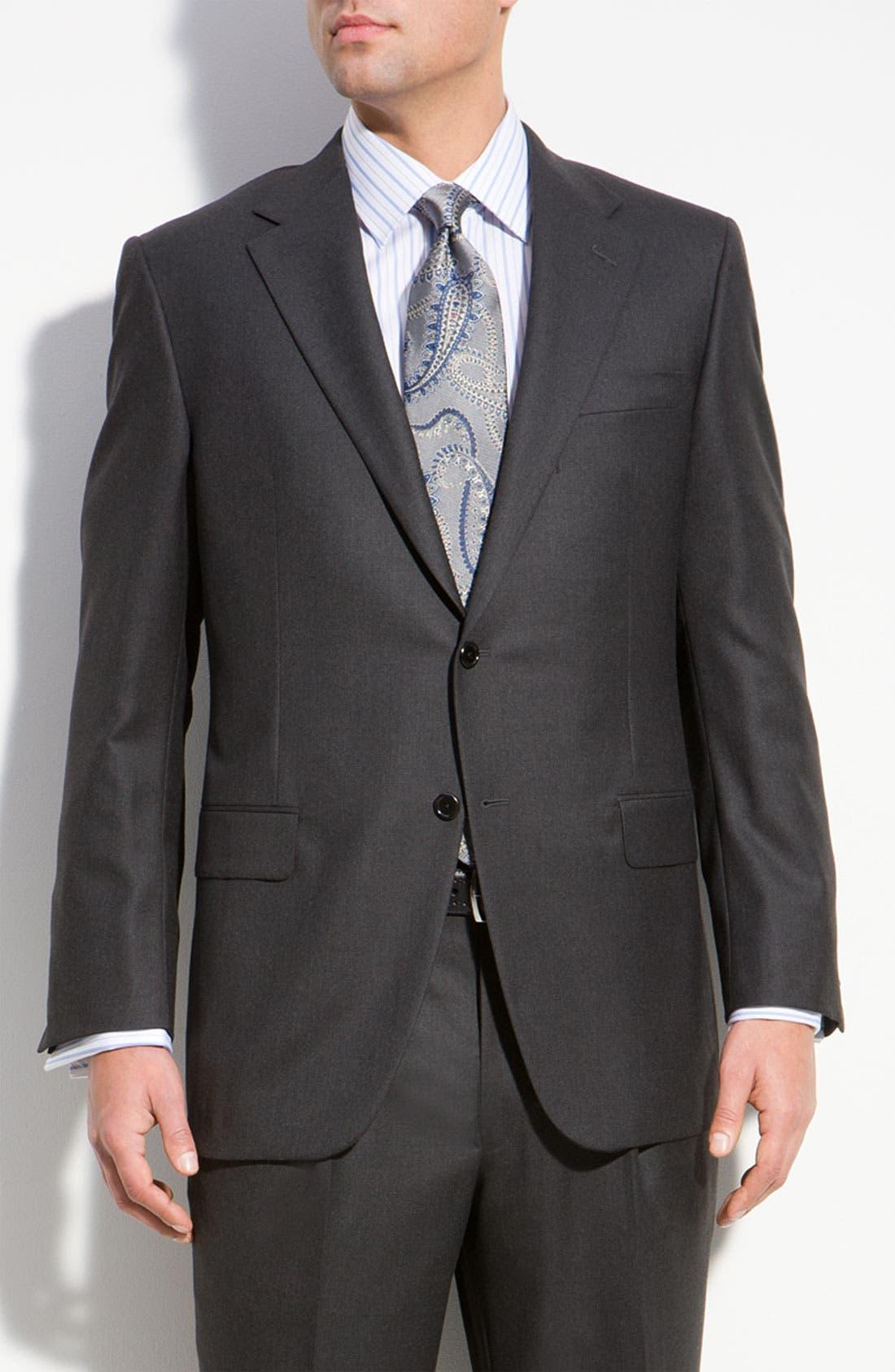 A Fit Wool Suit,                         Main,                         color, Grey