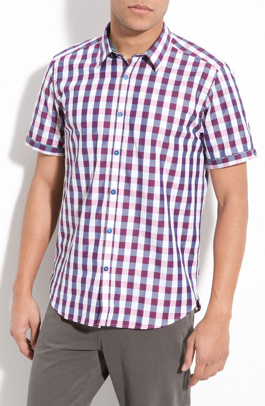 Main Image - Ted Baker London Check Plaid Woven Shirt